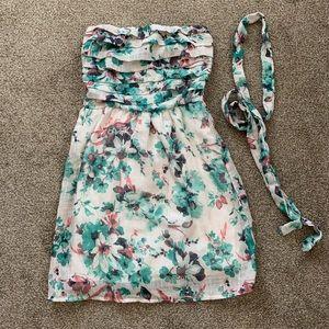 Delia's Floral Strapless Dress